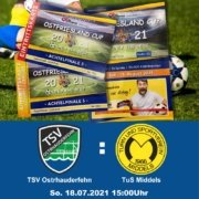 Am 18.07.2021 startet auch für den TSV Ostrhauderfehn das Turnier Ostfriesland-Cup – Only the Best.